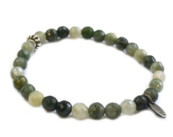 SALE 6mm Olive Mix Bracelet