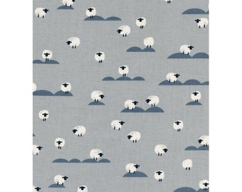 NEW!! - Cotton Fabric by the Yard - Fat Quarter Bundle - Quilt Fabric Bundle - Cotton + Steel - C5169-001 Panorama - Sheep - Newspaper