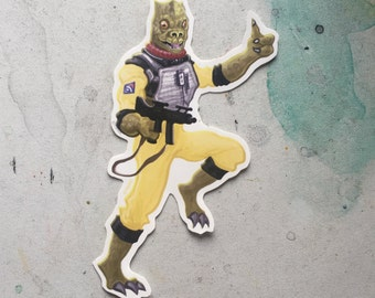 Bossk STAR WARS Waterproof Sticker