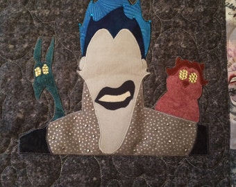 Disney Villain Hades Minimalist Applique Pattern - Inspired by Disney's Hercules