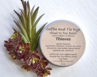 Body Balm, Natural Body Balm, Head To Toe Balm, Beeswax Balm, Lotion, Beeswax, Winter Balm, Thieves Body Balm, Thieves Balm, Thieves
