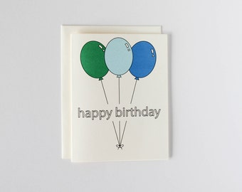 Balloon Birthday Card - Oh Goodness Paper Co