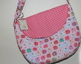 Kawaii Cute Soft Fabric Pink Sheep Shoulder Bag