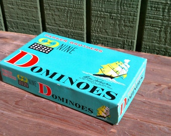 Vintage Box of Parker Brothers Double Nine Dominoes