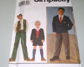 Simplicity 8966 Boys Prep School Pattern 8 to 14 UNCUT