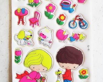 Vintage Japanese Stickers! - Animals & Toys