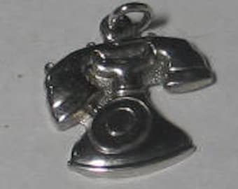 SALE Vintage Sterling Old Fashioned Rotary Telephone  Charm