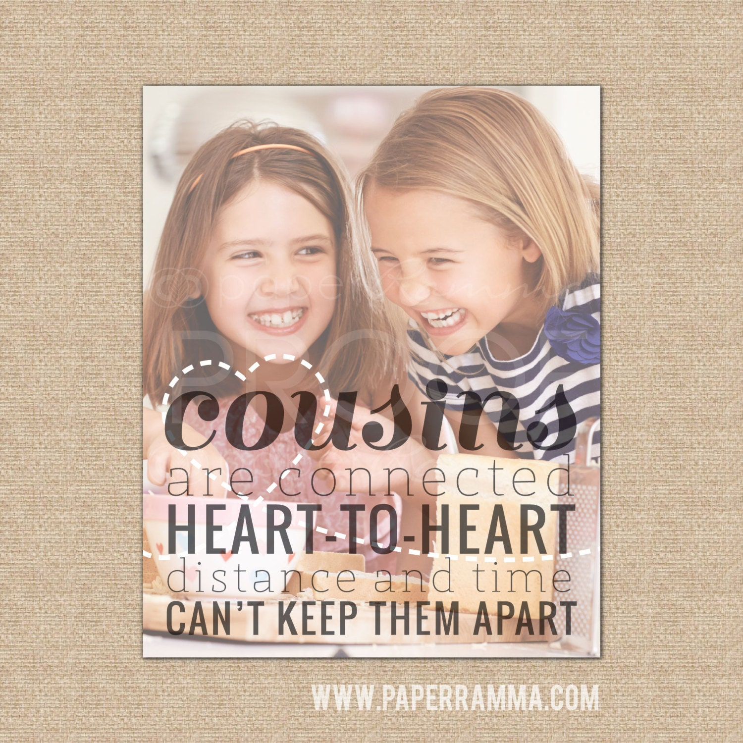 Cousin giftcousins are connected heart to heart quote zoom jeuxipadfo Choice Image