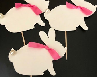 Bunny cupcake toppers !