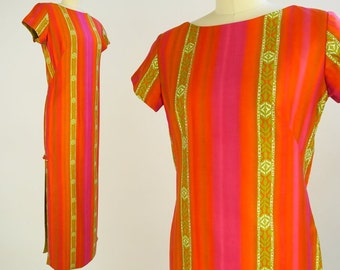 STAN HICKS Hawaiian Dress / 1960s Vintage Tiki Dress