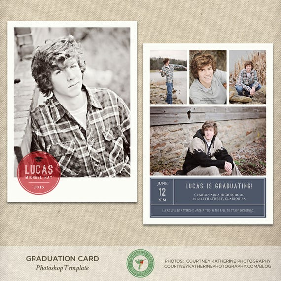 Senior Graduation Announcement Template High School