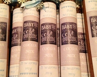 Baby Shower Favors Hot Chocolate hot chocolate test tube thank you/baby shower favor baby