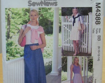 McCall's 4388 Skort culottes with cargo pocket sewing pattern 8 10 12 14 UNCUT