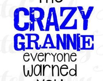 Crazy Grannie svg