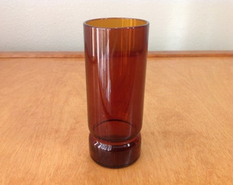 Dark Amber Glass Vase
