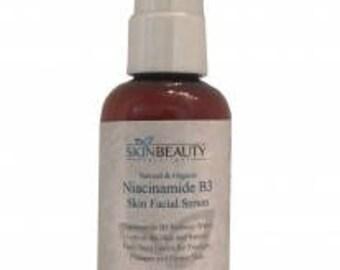 NIACINAMIDE 5% B3 Face Serum Advanced Formula with Niacinamide Vitamin B3 for Younger, Plumper, Firmer Skin. Organic & Natural Base Serum