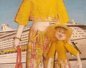 KK776E – Cruisin' Susan & Susie - Cloth Doll Making Sewing Pattern, PDF Download
