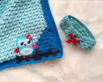 Blue Granny Corner 2 Corner Crochet Blanket and Headband PATTERNS - Great Beginner Pattern