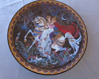 "Collector Plate - 1992 Vintage Royal Porcelain Kingdom of Siam Ltd Edition numbered plate ""The Exile"""