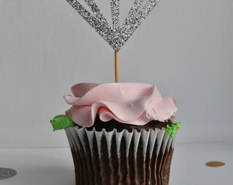 12 Diamond Cupcake Toppers - Birthday | Party | First Birthday | Wedding | Engagement | Baby Shower | Bachelorette | Celebration