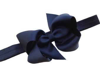 Black baby headband - baby headbands, baby headband bows, baby girl headbands, bow headband, baby bows, hair bows, hair bows for girls, bows
