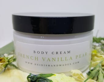 French Vanilla Pear - Moisturizing Body Cream - Hand and Body Cream - French Vanilla Pear Lotion