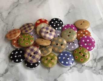 25 Multicoloured Buttons