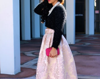 MADE TO ORDER: The Damask Midi Skirt