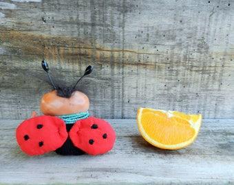 SALE!! ooak art doll Ladybug with chocolate bars