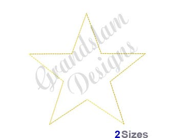 Star Outline - Machine Embroidery Design