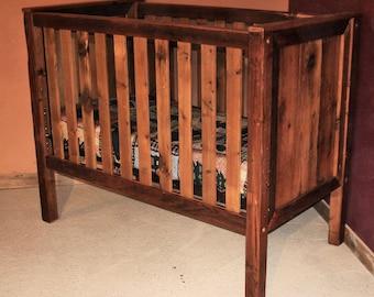 Barn Wood Baby Crib