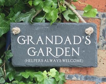 Personalised garden slate sign, house gift house sign, house warming gift, house warming sign, new home gift, new home sign, garden sign