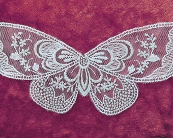 Butterfly lace embroidery applique