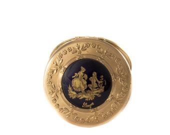Vintage Limoges Powder Box with Tassel