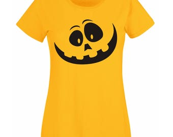 Halloween shirt Pumpkin jack o'lantern tshirt, Cotsume Womens size for Halloween clothes girls Tumblr