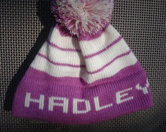 Personalized knit hat - Hadley, Emme,  Abigail, Kyleigh or Amelia