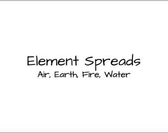 The Four Elements Spreads Elemental Readings Bundle