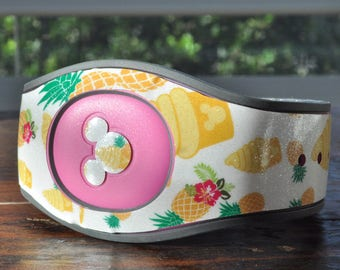 Magic Band Decal | Glitter Dole Whip Inspired MagicBand Decal | Magic Band 2.0 Decal | RTS Ready To Ship