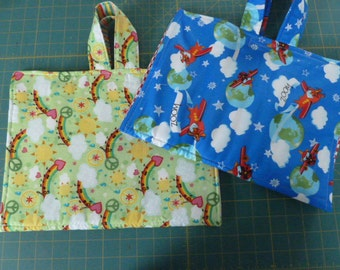 Child's Crayon & Coloring Book Fabric Tote