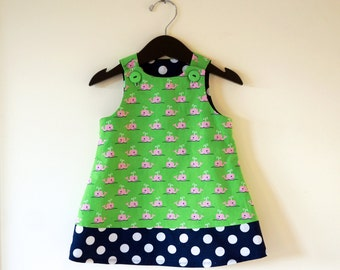 Whales & Polka Dots, Girls Nautical Jumper Dress, Toddler Girls Jumper Dress, Preppy Whale, Navy Polka Dots, Pink Whales, Fall Dress