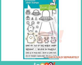Lawn Fawn Clear Stamp Set - Beam Me Up