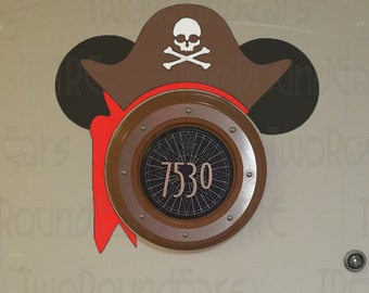DCL Stateroom Door Porthole Ears - Pirate Set