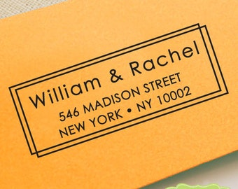 CCUSTOM address STAMP from USA, pre inked stamp, Wedding Stamp, rsvp stamp, return address stamp with proof - Custom Address Stamp b5-2
