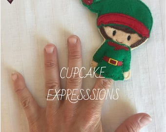 Boy Elf - Finger Puppet, Quiet Time Play Toy - Imaginative Play - christmas, santa's little helper, toy maker North Pole