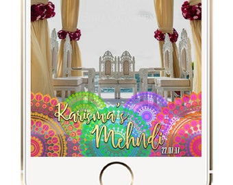 Mehndi Snapchat Geofilter, Indian Wedding Geofilter, Mehndi Filter, Indian Wedding Ideas, Indian Mehendi Dholki Sangeet Snapchat filter