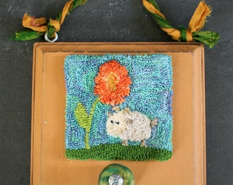 Goat in the Garden Punchneedle Embroidery Pattern PDF