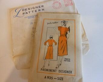 Vintage UNCUT 70's Prominent Designer Dress pattern