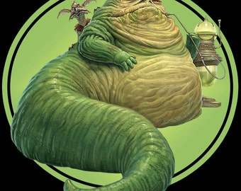 80's Sci-Fi Classic Star Wars: Return Of The Jedi Jabba The Hutt custom tee Any Size Any Color