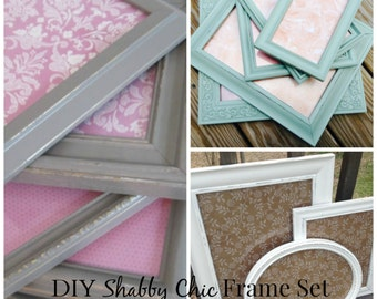 DIY Frame Set, Craft Kit, DIY frames, DIY home decor, diy home decor set, unique gifts, handmade, gift for her, nursery decor, picture frame
