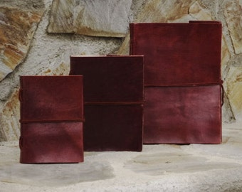 Leather Travel Book - Leather Notebook - Leather Travel Sketchbook